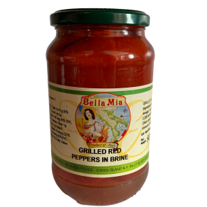 Bella Mia Grilled Red Peppers in Brine 540g.